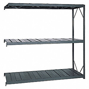 "Bulk Rack,Add-On,96"" H,96"" W,36"" D,Gray"