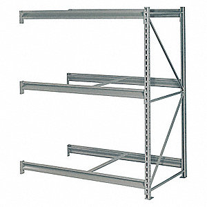 "Add-On Bulk Storage Rack with None Decking and 3 Shelves, 60""W x 24""D x 72""H"