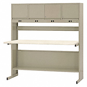 "Workbench, Laminate, 30"" Depth, 33"" Height, 72"" Width, 2000 lb. Load Capacity"
