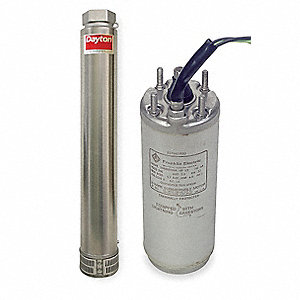 2 HP Stainless Steel Deep Well Submersible Pump/Motor, 35 GPM