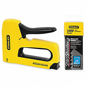 "7-1/4"" Heavy Duty Staple Gun, Yellow"