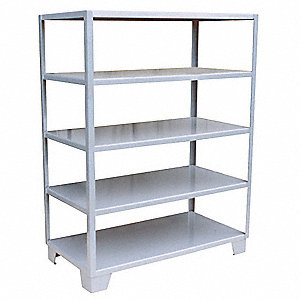 "36"" x 24"" x 65"" Steel Bulk Storage Rack, Gray&#x3b; Number of Shelves: 5"