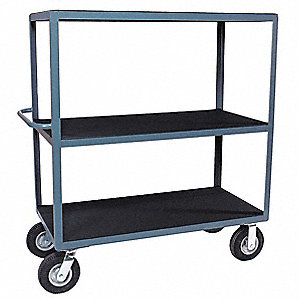 "56""H x 25""D Instrument Cart, 1200 lb. Load Capacity, Number of Shelves: 3"