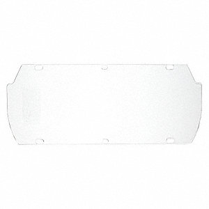 Faceshield Visor,Acetate,Clr,7x16-3/4in