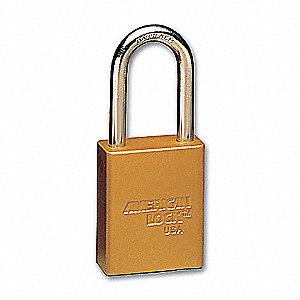 Yellow Lockout Padlock, Alike Key Type, Master Keyed: No, Aluminum Body Material, PK12