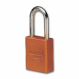 Orange Lockout Padlock, Alike Key Type, Master Keyed: No, Aluminum Body Material