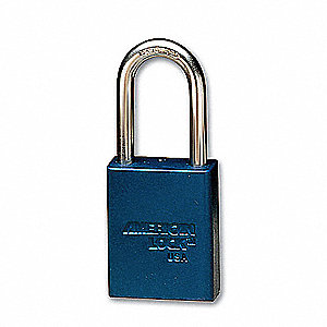 Blue Lockout Padlock, Alike Key Type, Master Keyed: No, Aluminum Body Material