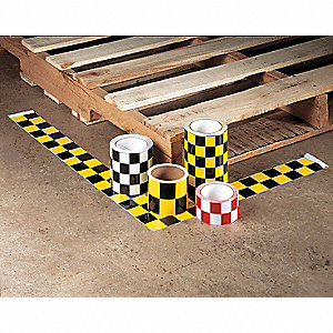 "Safety Warning Tape, Solid, Continuous Roll, 6"" Width, 1 EA"