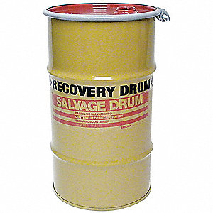Transport Drum,Open Head,15 gal.,Yellow