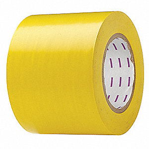 "Safety Warning Tape, Solid, Roll, 4"" x 180 ft., 1 EA"
