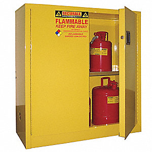 Flammable Safety Cabinet,30 Gal.,Gray