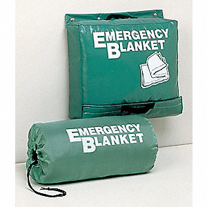 Emergency Blanket,Gray,70 In. x 82 In.