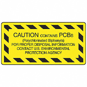 Chemical Label,11/16 In. H,PK480