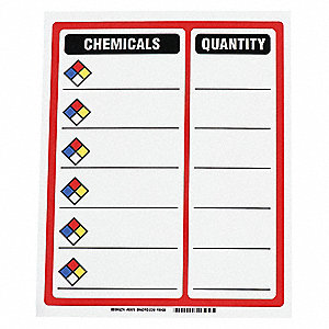 "NFR Hazard Rating Sign, Magnetic, 15"" x 12"", 1 EA"