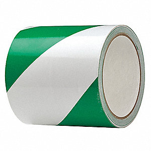 "Safety Warning Tape, Solid, Continuous Roll, 4"" Width, 1 EA"