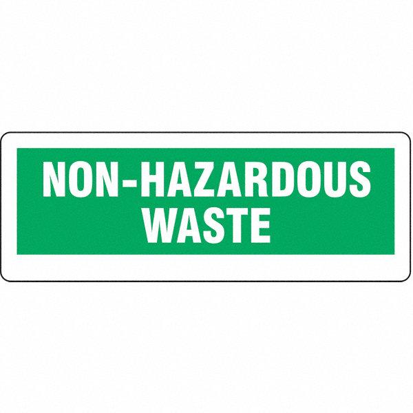"""All Hazards Waste Management Planning Wmp Tool: BRADY Paper Non Hazardous Waste Label, 3-1/2"""" Height, 10"""