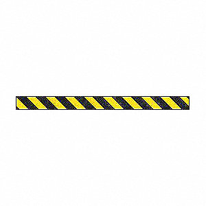 "Striped Black/Yellow Anti-Slip Tape, 2"" x 60.0 ft. Grit Aluminum Oxide, Acrylic Adhesive, 1 EA"