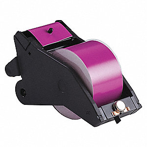 "Indoor/Outdoor Vinyl Film Label Tape Cartridge, White/Magenta, 2-1/4""W x 90 ft."