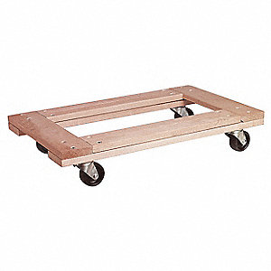 "36""L x 24""W x 5-3/4""H Natural Movers Dolly, 900 lb. Load Capacity"