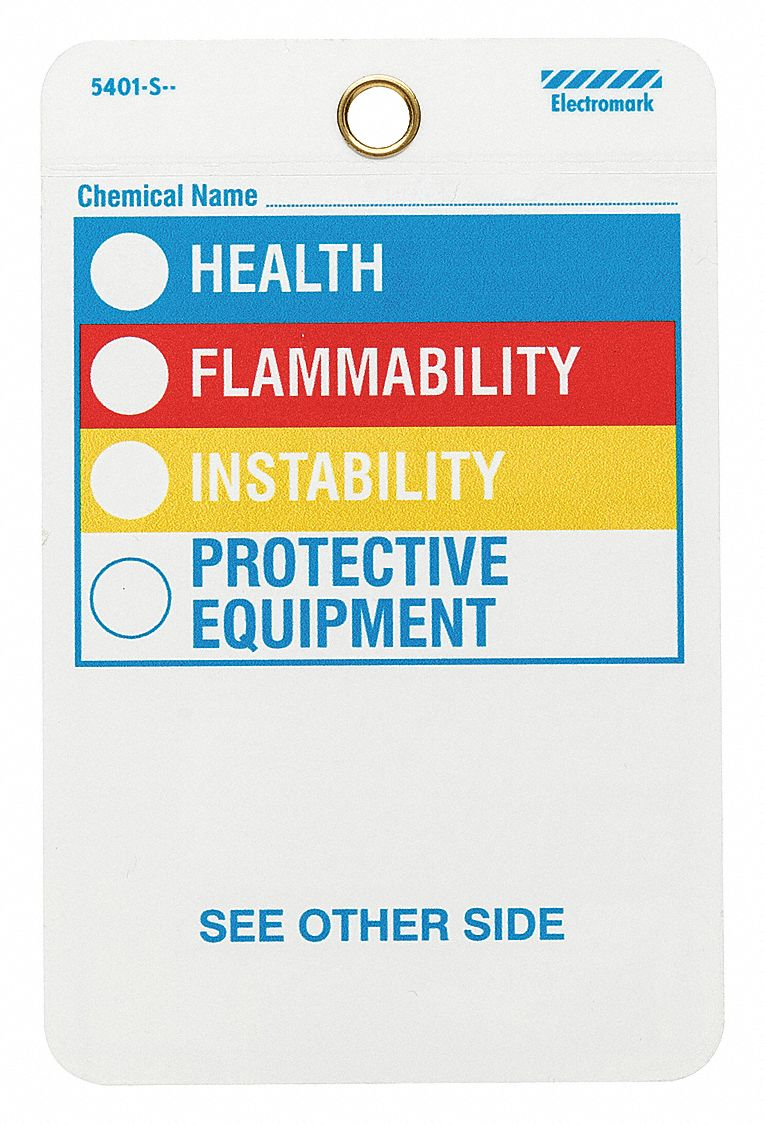 This is an image of Epic Health Flammability Reactivity Labels