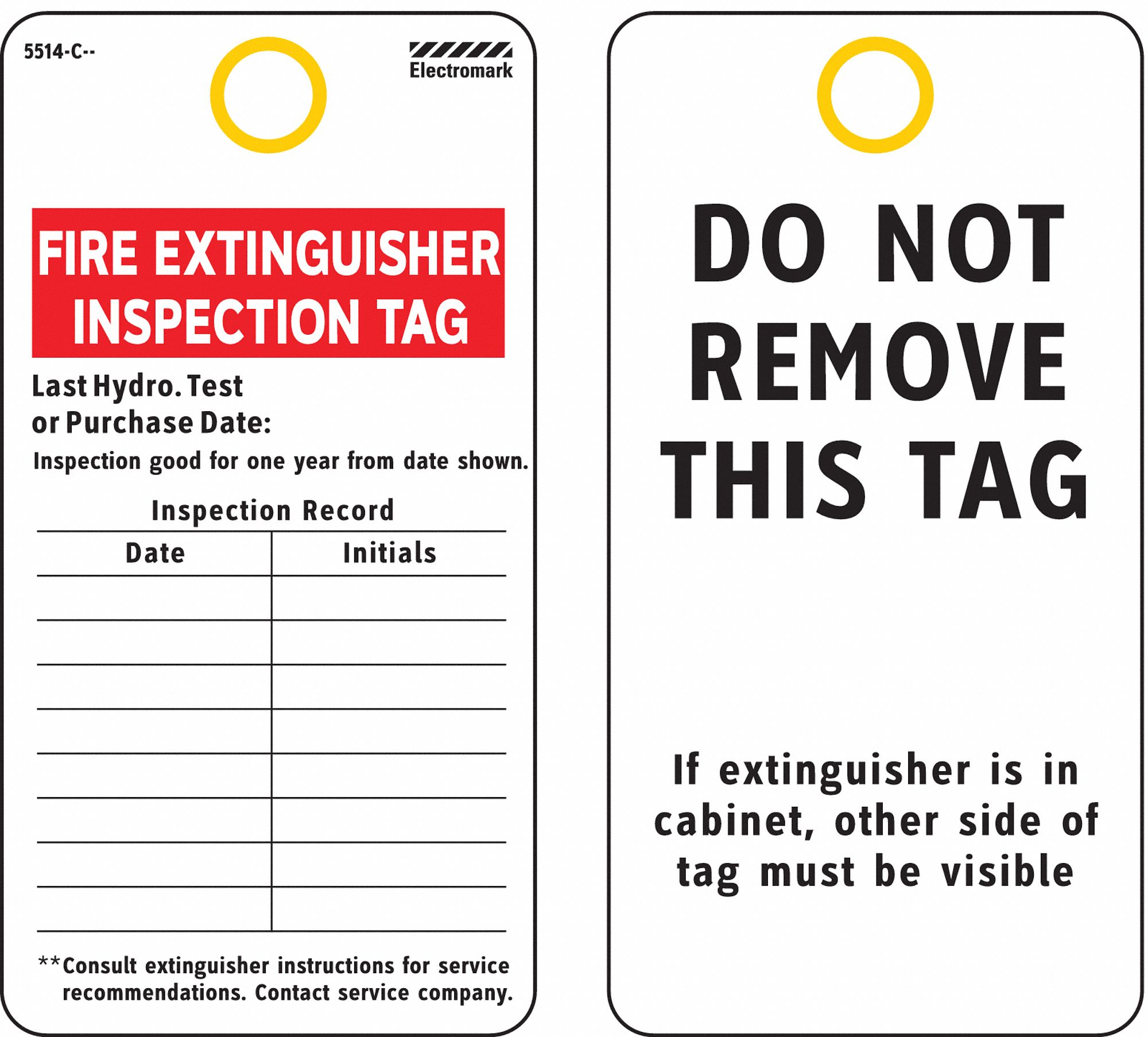 Inspection Tag, Cardstock, Height: 5-3/8