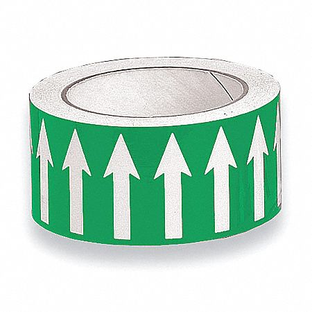 Banding Tape,  Background Color Green,  Vinyl,  Pipe Marker Mounting Style Adhesive Pipe Marker