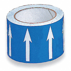 Arrow Tape,White/Blue,4 In. W