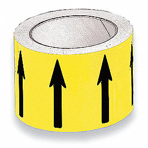 "Banding Tape, Yellow, Vinyl, 4"" x 54 ft."