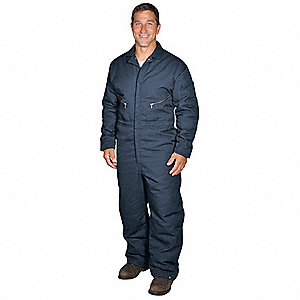 Coverall,Chest 42 to 44In.,Navy
