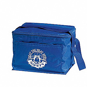 Soft Sided Cooler,6 Cans,Royal Blue