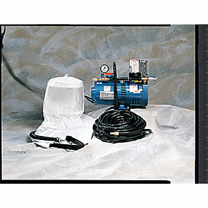 Supplied Air Pump Package, 1-1/2 HP, People Served: 2, Headgear Included: Hood