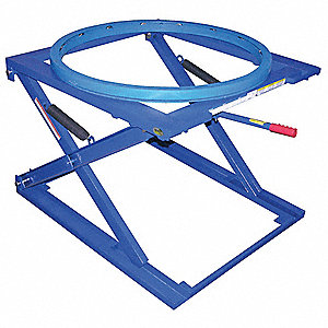 "Tension Spring Pallet Stand, 4000 lb. Load Capacity, 22-1/4, 32-3/4, 37-1/4""Raised Height"