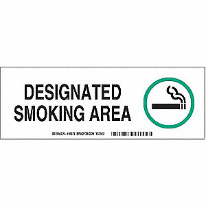 "No Smoking, No Header, Aluminum, 3-1/2"" x 10"", With Mounting Holes, Not Retroreflective"