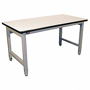 "Modular Workbench, Steel Frame Material, 72"" Width, 30"" Depth  Laminate Work Surface Material"