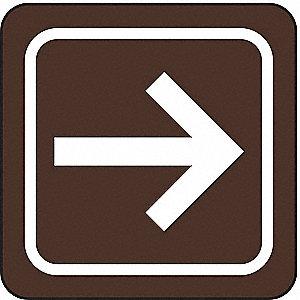 CUSTOM SIGN,3 X 3IN,WHT/BR,ACRYL,SY