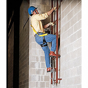 Vertical Access Ladder System Kit, 80 ft. Length, Permanent Installation, 1 Workers Per System