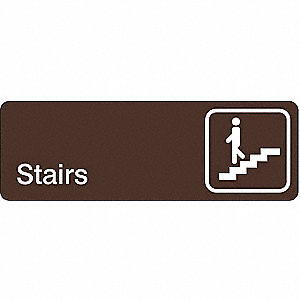 DIRECTIONAL SIGN,3 X 9IN,WHT/BR,ACR