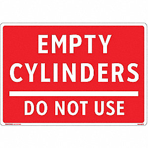 Gas Cylinder Sign Label,10 In. W,7 In. H