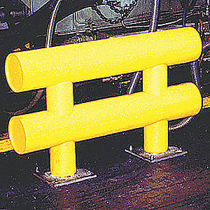 Safety Yellow Guard Rail System, Thermoplastic Polyethylene, Core In Mounting Style