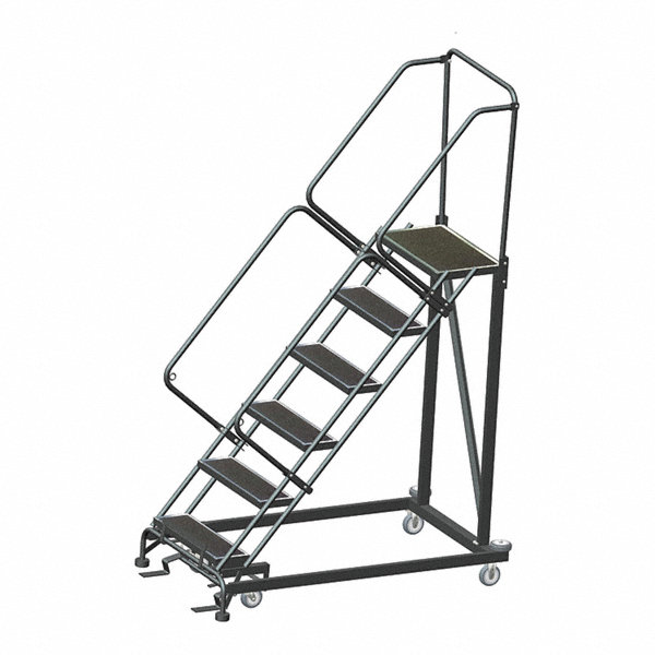 Ballymore 6 Step Stairway Slope Rolling Ladder Rubber Mat