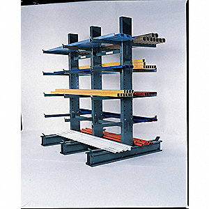 10 ft. 24 Arm 10,320 lb. Capacity Steel Cantilever Rack Starter Unit, Gray Enamel