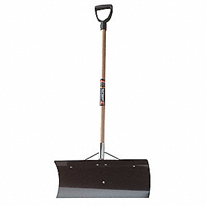 "Snow Pusher, Steel Blade Material, 24"" Blade Width, 10"" Blade Height"