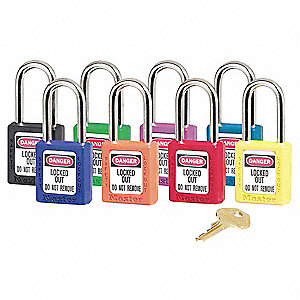 Master Lock Yellow Lockout Padlock Thermoplastic Body 4FG05