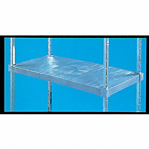"18"" x 60"" x 64"" Freestanding Polypropylene/Resin/Steel Vented Shelving Unit, Gray"