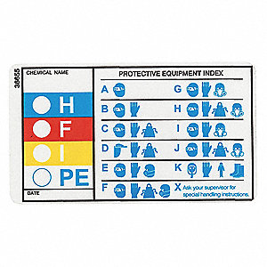 HMIG Label,2 In. H,3-1/2 In. W,PK25