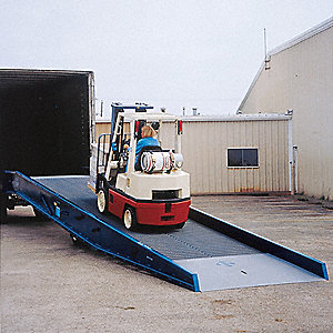 "30 ft. x 84"" Portable Yard Ramp&#x3b; Load Capacity: 16,000 lb."