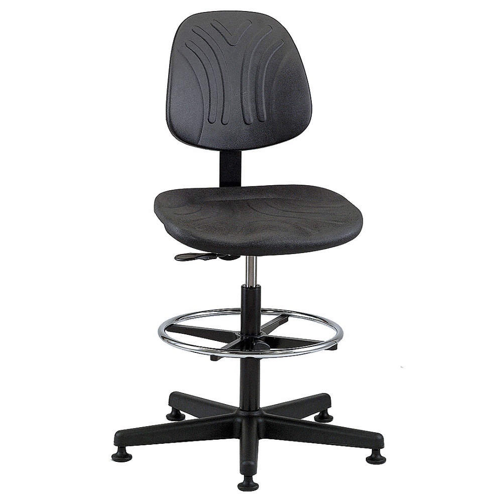 "bevco task chair,poly,black,23"" to 33"" seat ht - 8al73
