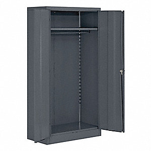 "Commercial Storage Cabinet, Gray, 72"" H X 36"" W X 18"" D, Unassembled"