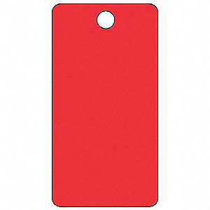 "Blank Tag, Red, Height: 5-3/4"" x Width: 3"", 25 PK"
