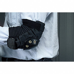 Hard Shell 2-Strap Elbow Pads, Black